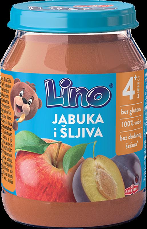 Lino jabuka i šljiva s grisom