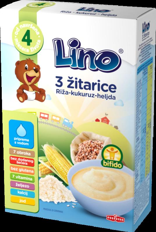 Lino 3 žitarice – riž, koruza in ajda