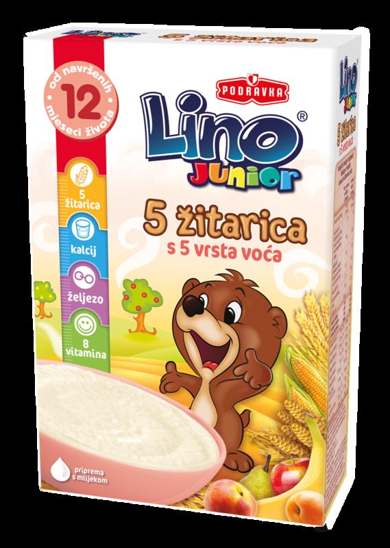 Lino Junior 5 žitaric s 5 vrst sadja