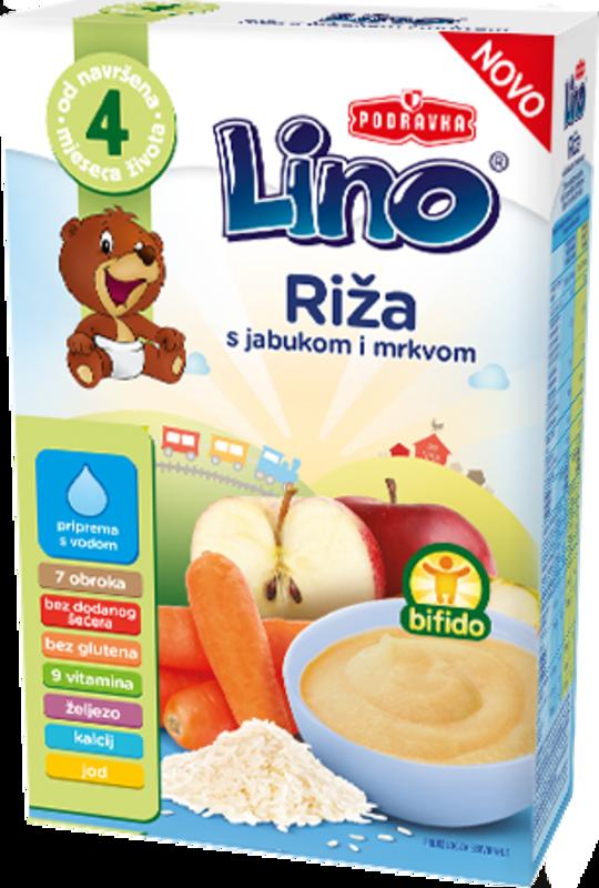 Lino riž jabolko korenje