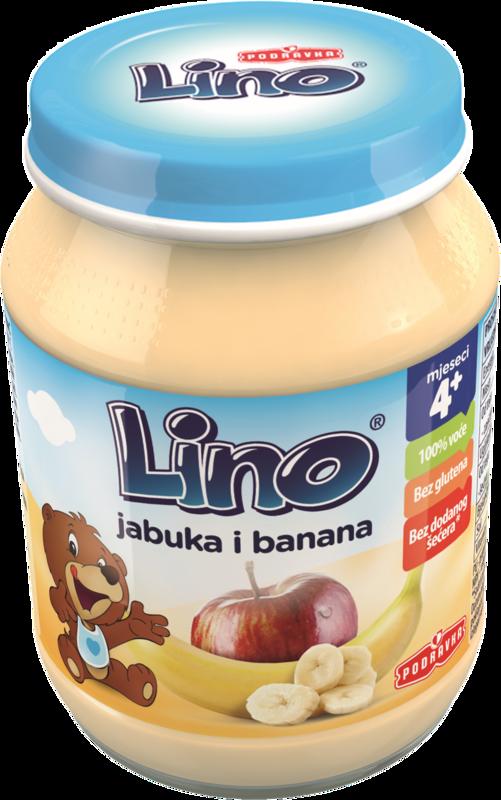 Lino kašica jabolko banana