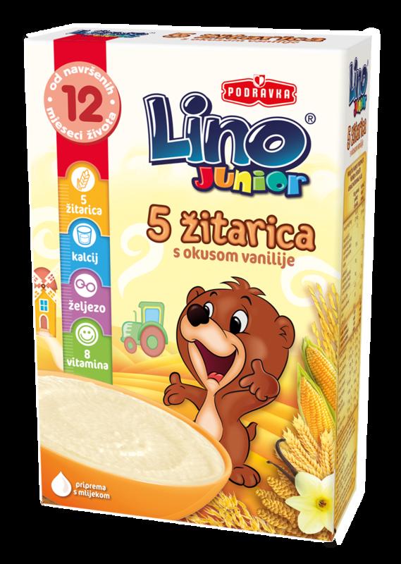 Lino junior 5 žitaric z okusom vanilje
