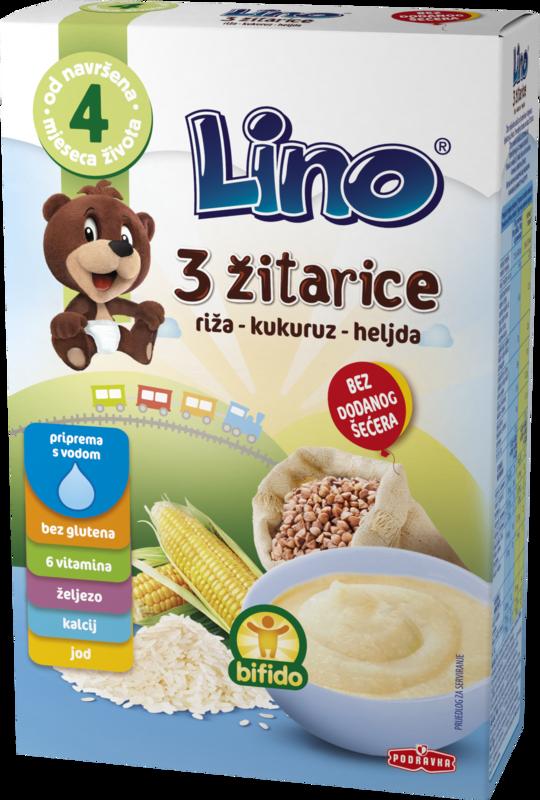 Lino 3 žitarice - riža, kukuruz i heljda